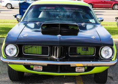 green-vintage-car